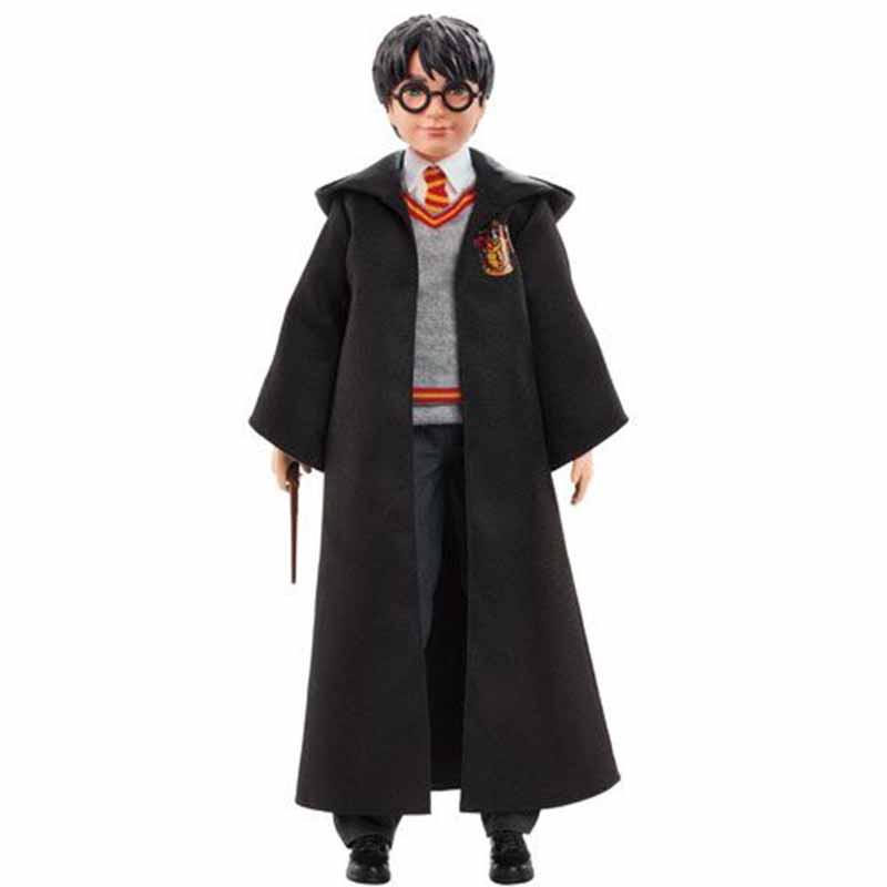 Harry Potter articulado com manto e varinha