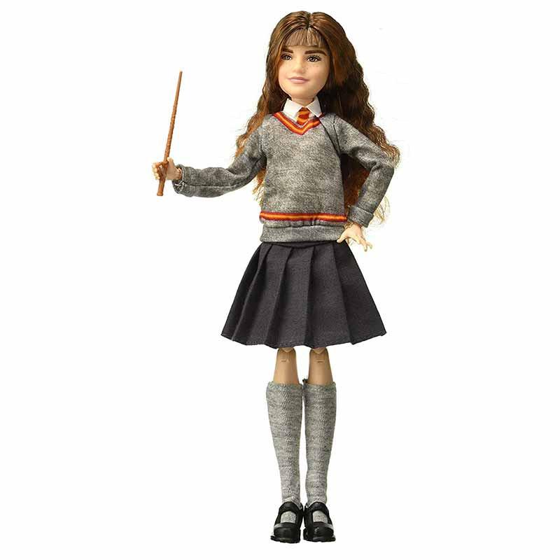 Hermione Granger articulada com manto e varinha