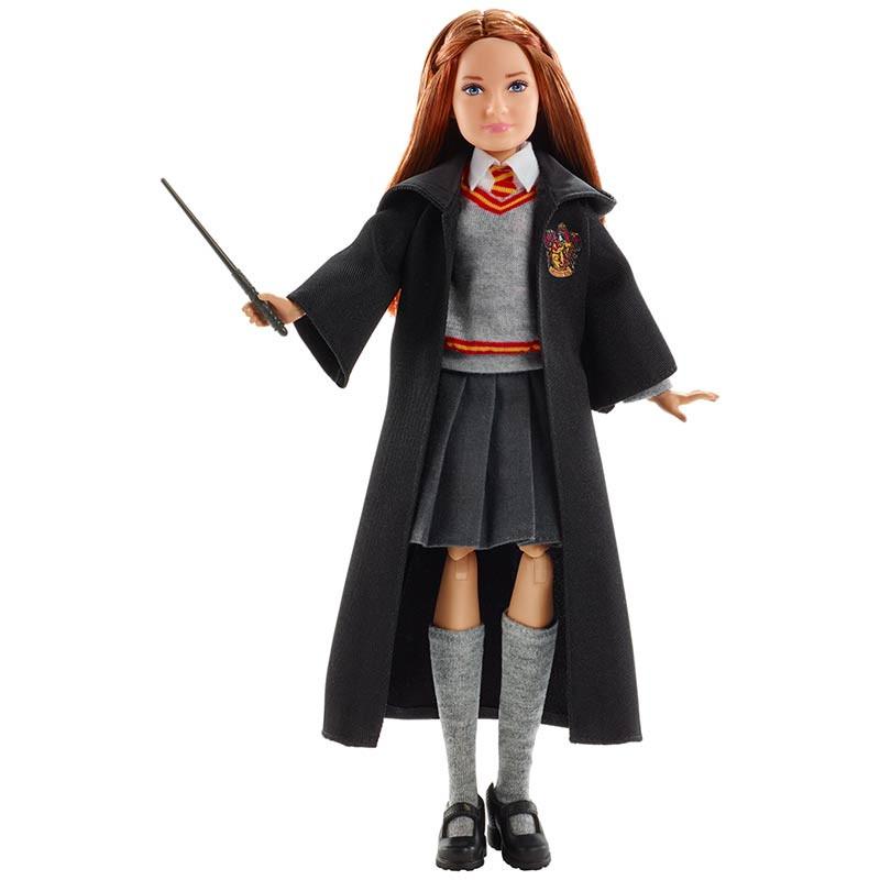 Ginny Weasley articulada com manto e varinha