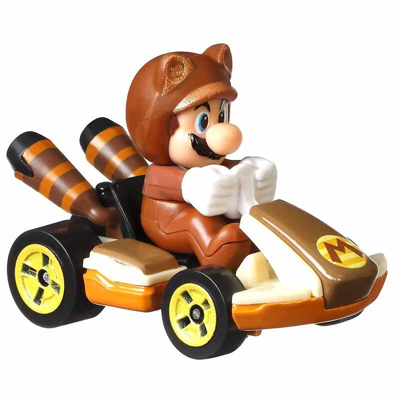 Hot WHeels carro Mario Kart Tanooki