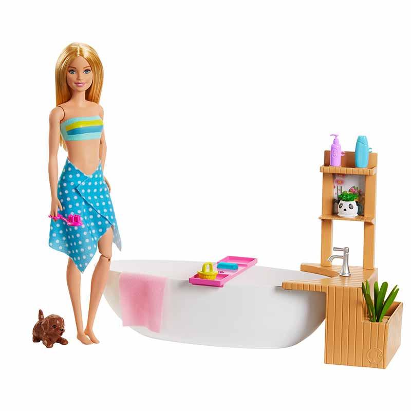 Barbie banho com borbulhas