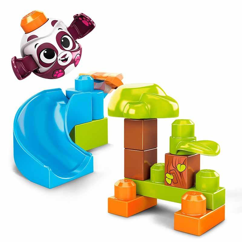 Mega Bloks Panda Lança e roda Peek a block