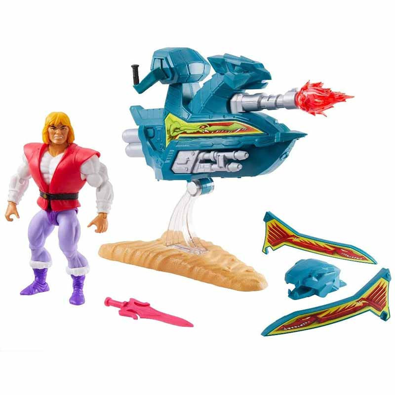 Masters of the Universe Prince Adam with Sky Sled