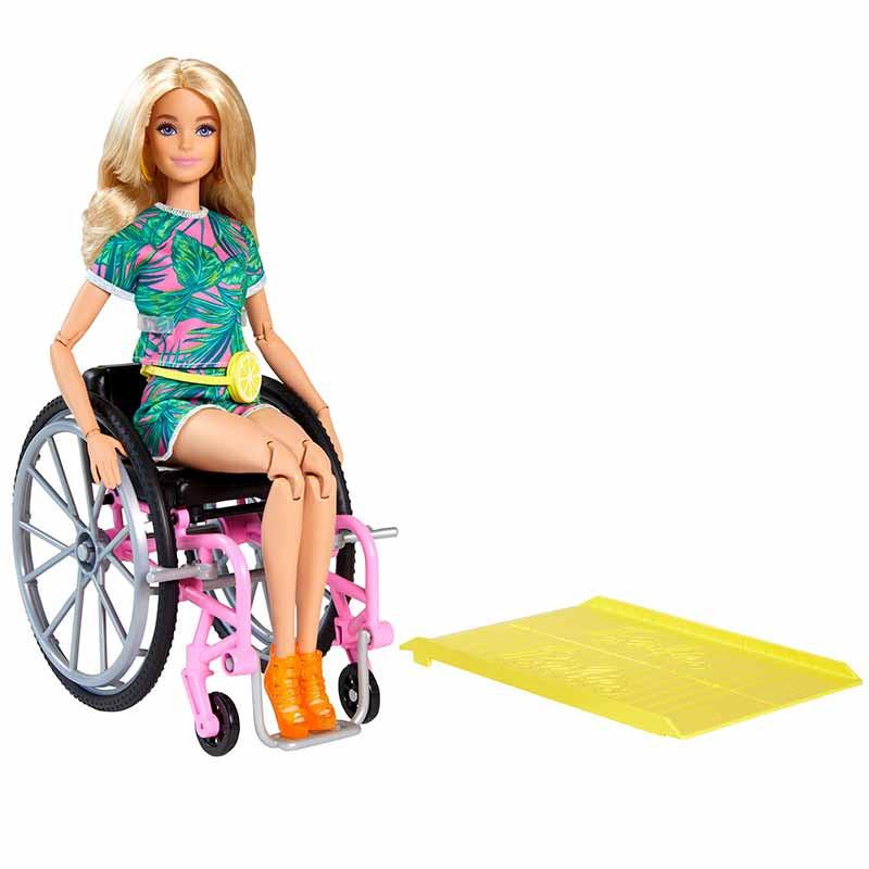Barbie Fashionista cadeira de rodas e rampa