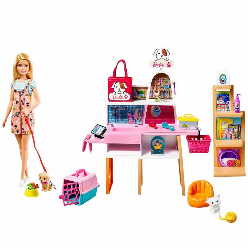 Barbie Loja de mascotes Boneca com acessórios