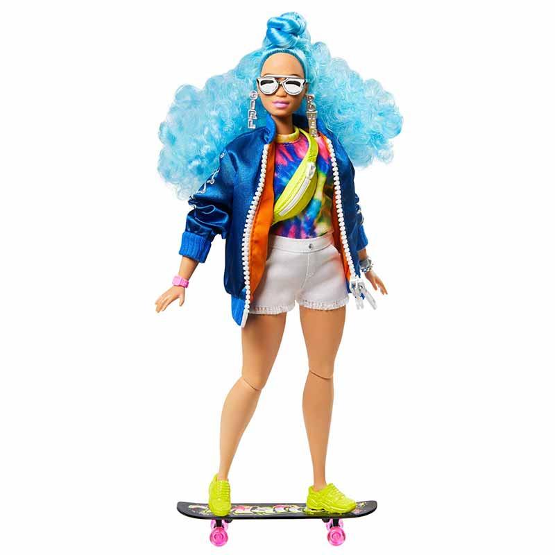 Barbie Extra Boneca com cabelo azul encaracolado