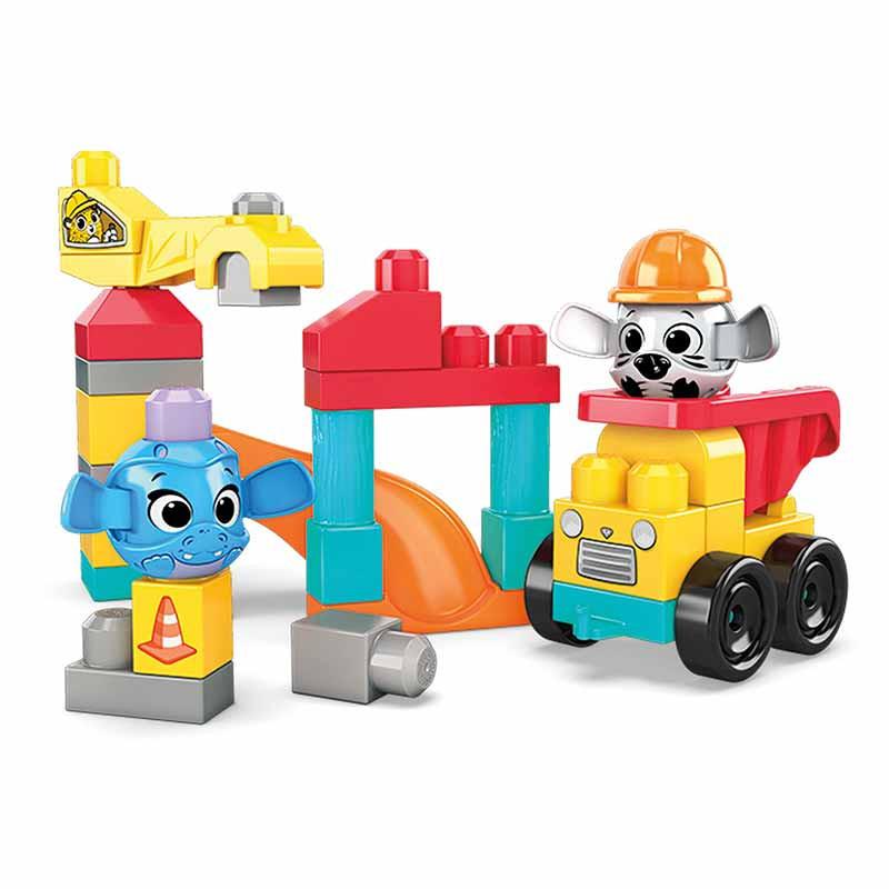 Mega Bloks Estaleiro de obras com 2 Peek A Blocks
