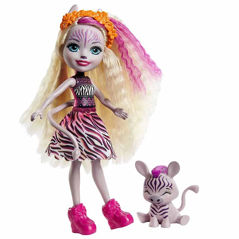 Enchantimals Zadie Zebra e mascote