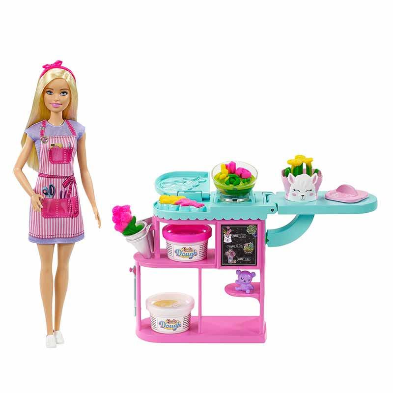Barbie Florista Boneca loira com acessórios