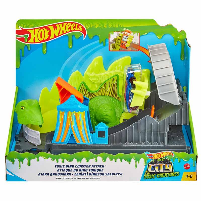 Hot Wheels City Ataque do dinossauro
