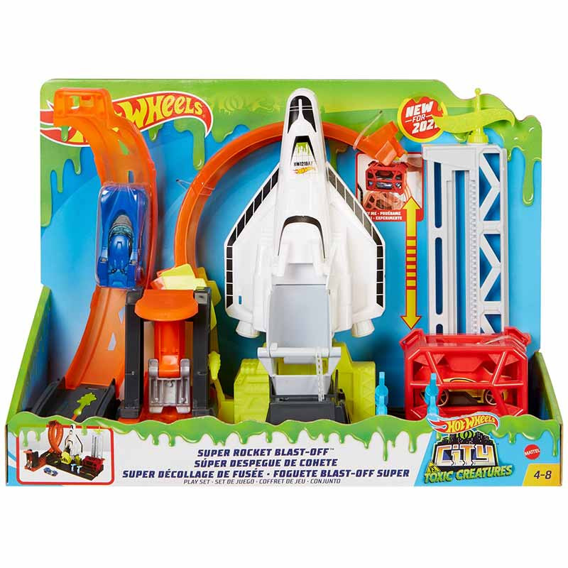 Hot Wheels City Super Rocket blast off