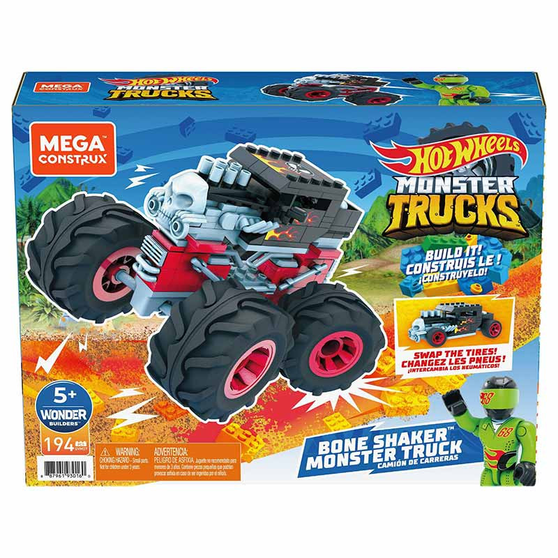 Mega Bloks Contrux Monster Trucks Bone Sha