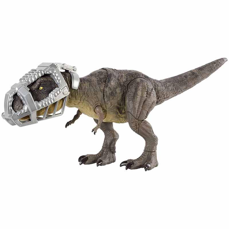 Jurassic World T Rex pisa e ataca