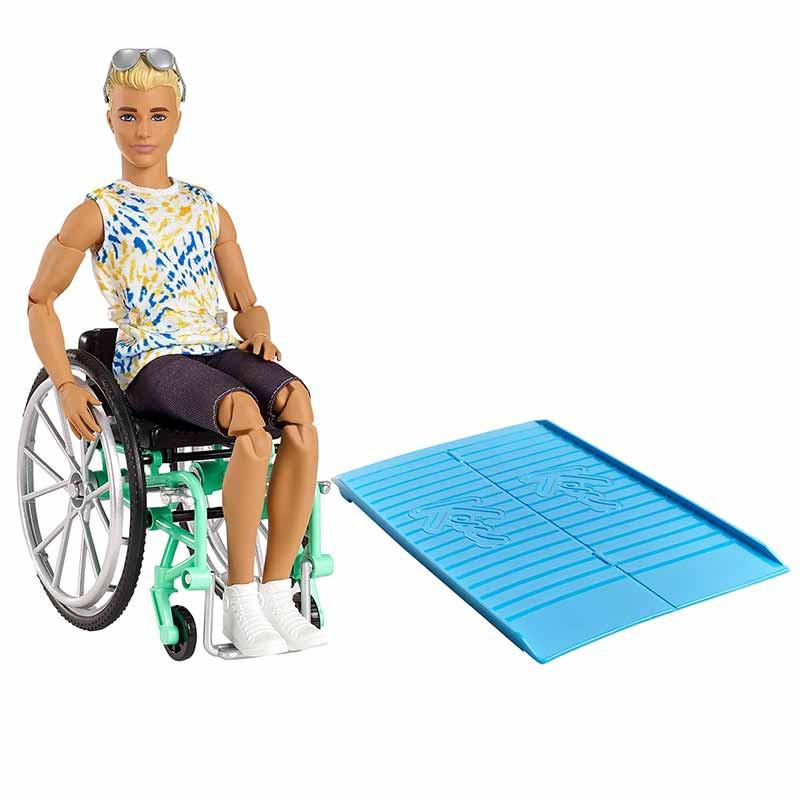 Ken Fashionista cadeira de rodas e rampa