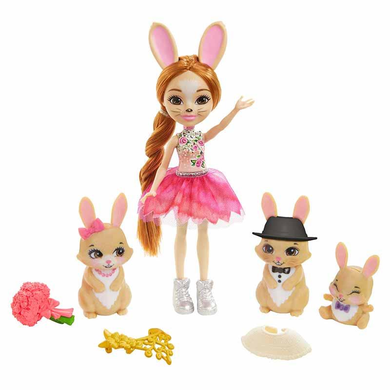 Boneca Royal Enchantimals com a Família Rabbit