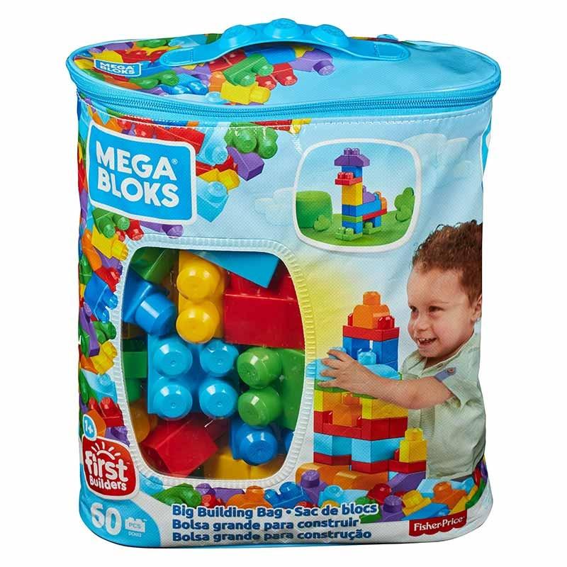 Mega Bloks mega bolsa 60 peças azul