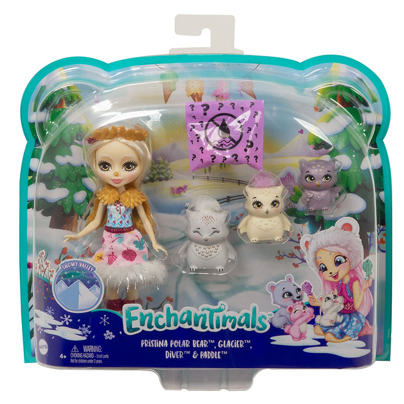 Enchantimals Snow Valley Odele Owl família mochos