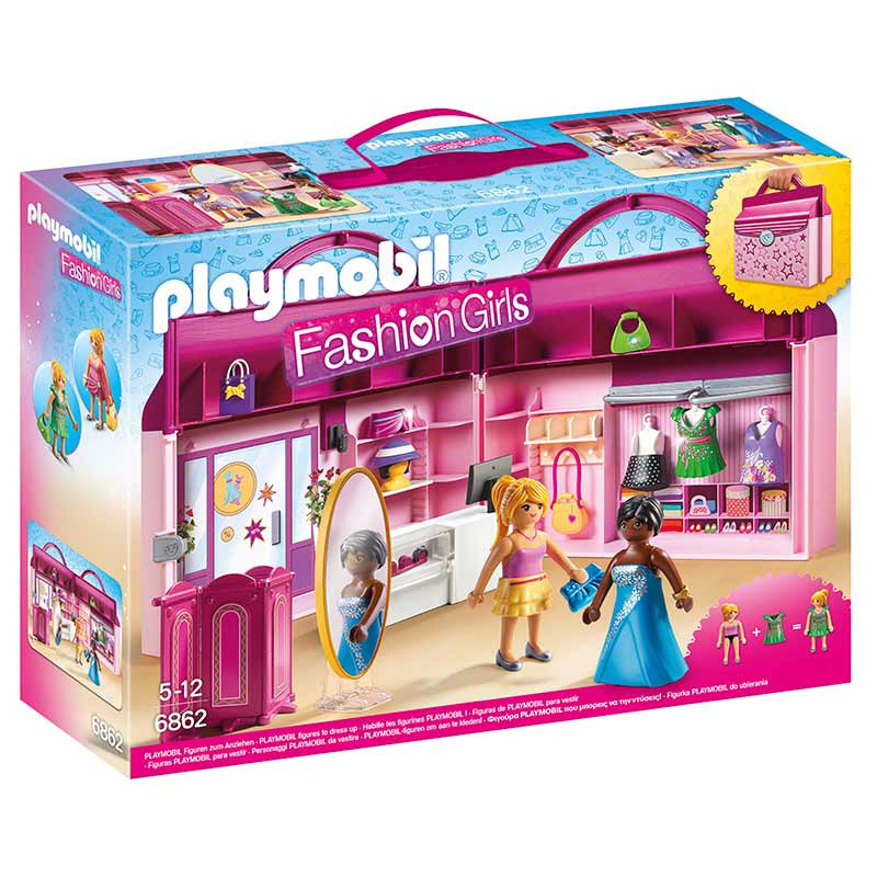 Playmobil Fashion Girls maleta loja de moda