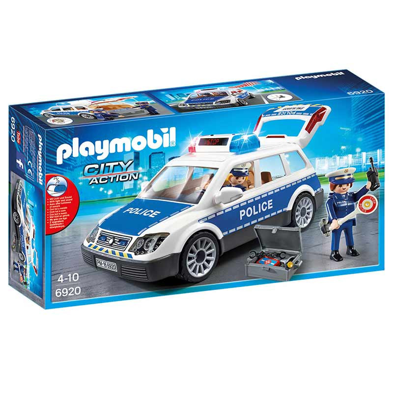 Playmobil City Action Carro Polícia com Luz e Som
