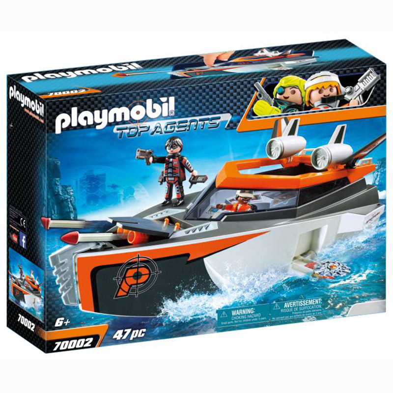 Playmobil SPY TEAM Lancha Turbo