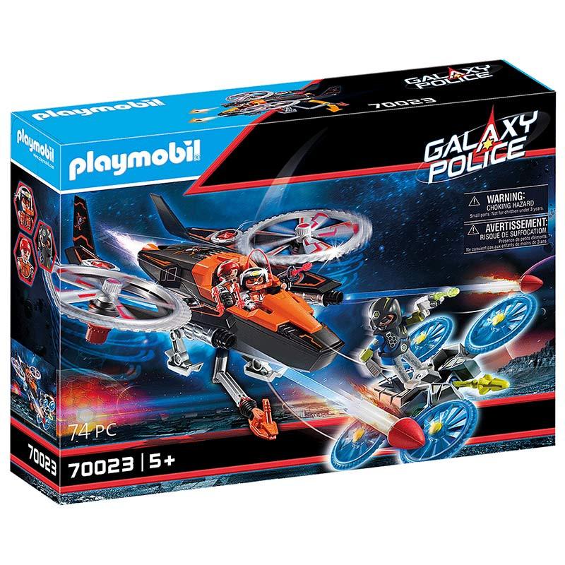 Playmobil Piratas Galácticos com Helicóptero