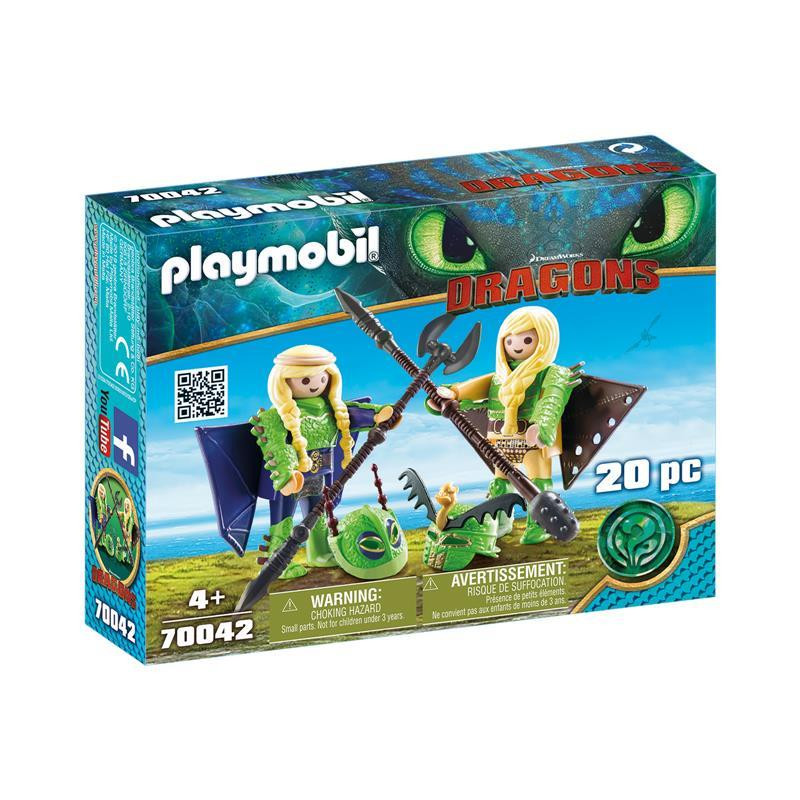 Playmobil Dragons Brutesco e Brutália Flight Suit