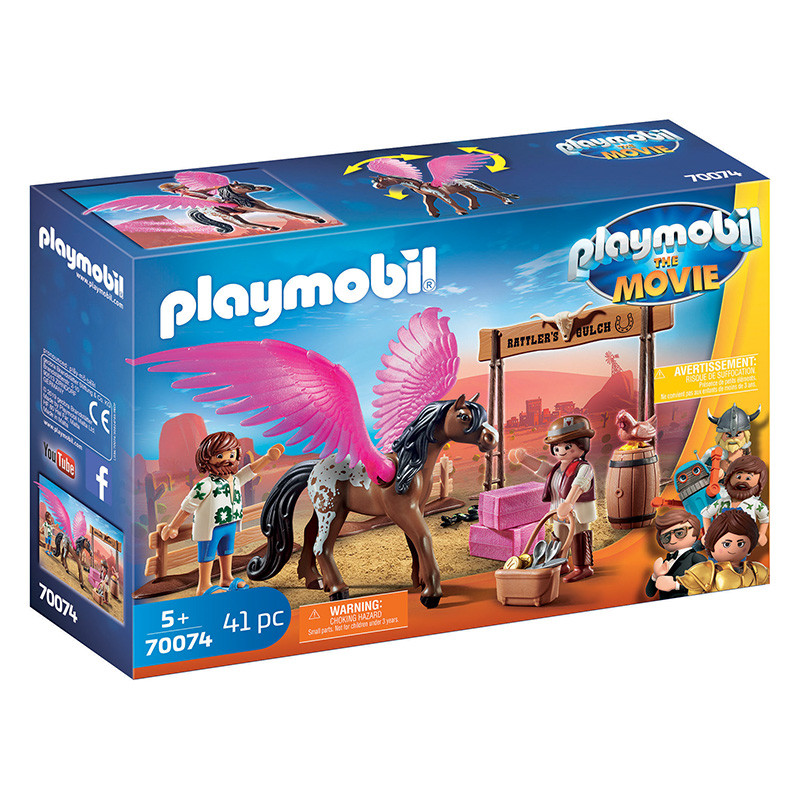 Playmobil The Movie Marla, Del e cavalo com asas
