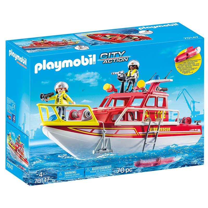 Playmobil Barco de Resgate dos Bombeiros