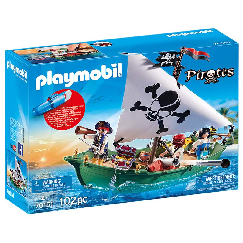 Playmobil Navio Pirata com motor subaquático