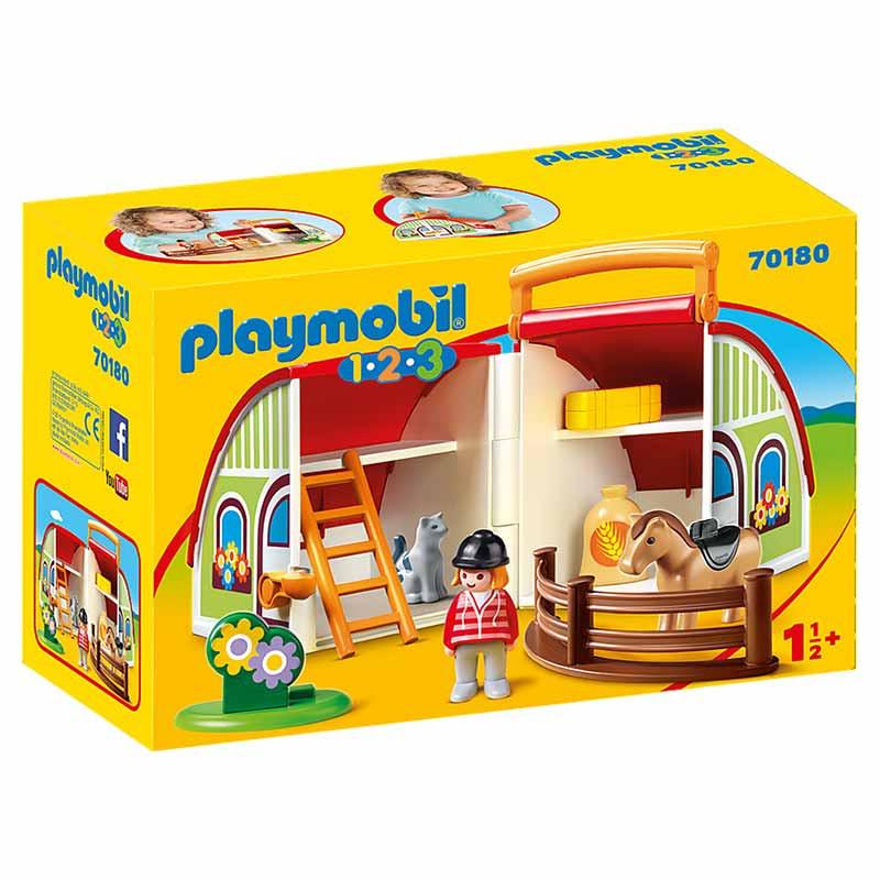 Playmobil 1.2.3 Mala Quinta de Cavalos
