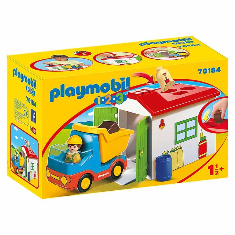 Playmobil 1.2.3 Camião com Garagem