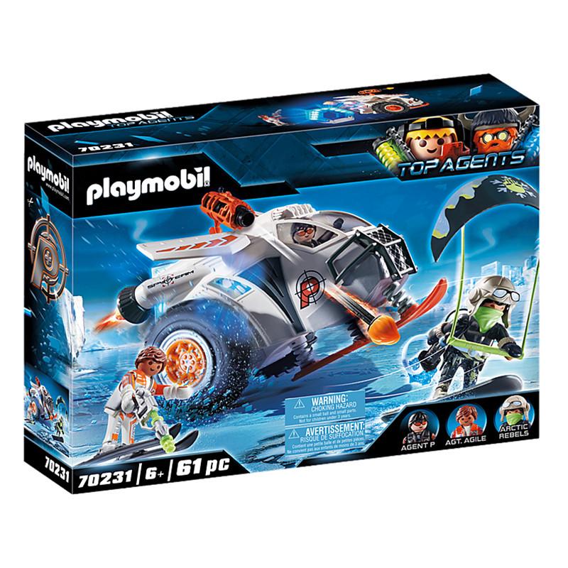 Playmobil Top Agents Spy Team Planador de Neve
