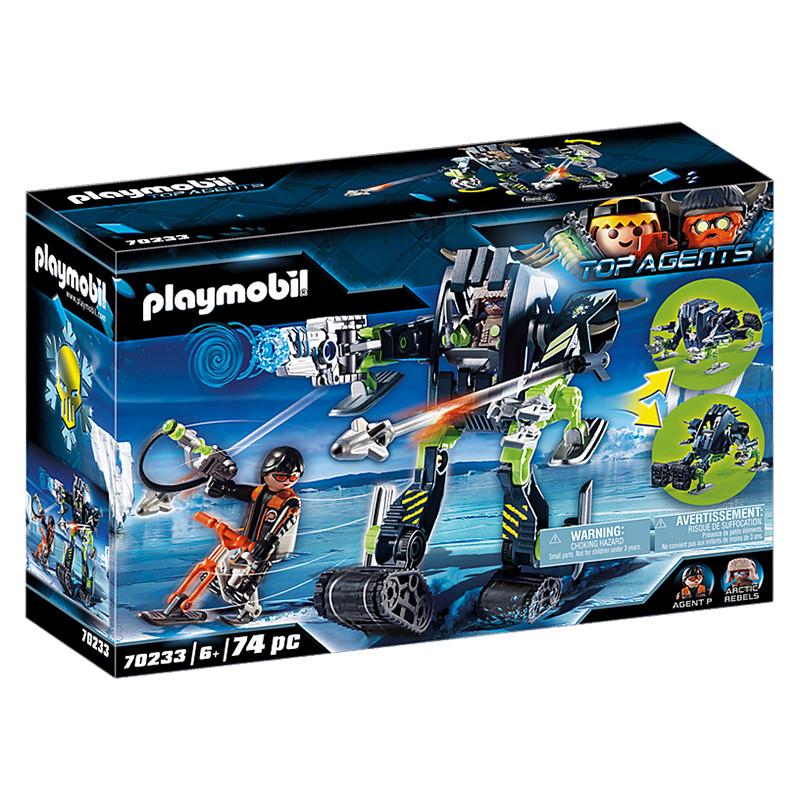 Playmobil Top Agents Arctic Rebels Robô de Gelo