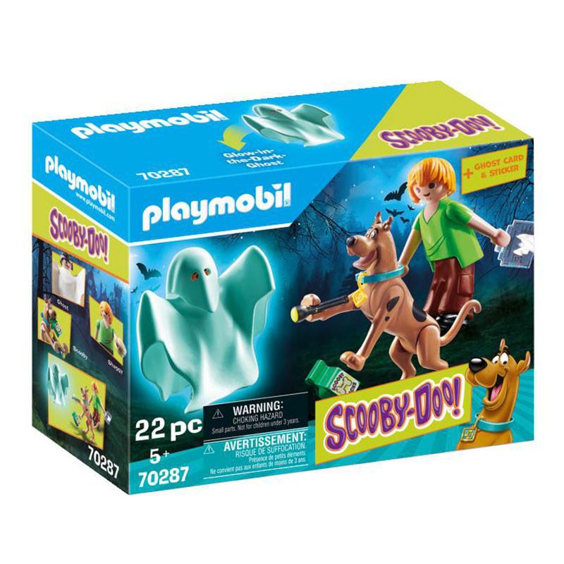 Playmobil Scooby Doo Scooby & Shaggy com Fantasma