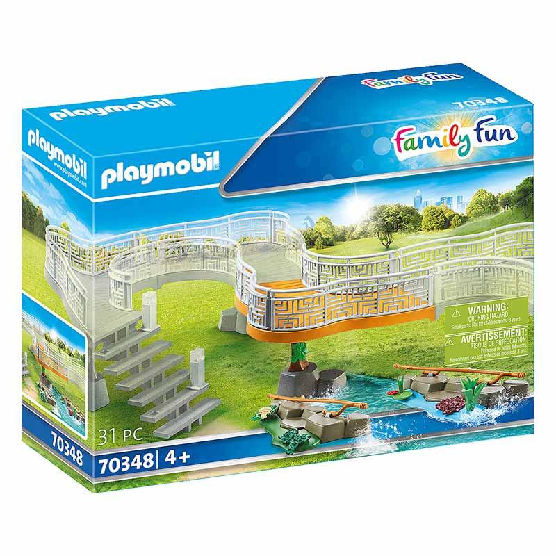 Playmobil Family Fun Plataforma de Observação Zoo