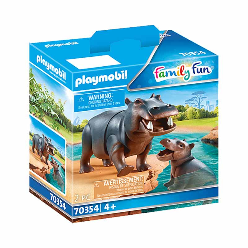Playmobil Family Fun Hipopótamo com Bebé
