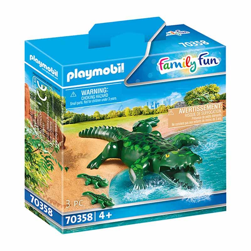 Playmobil Family Fun Crocodilo com Bebés