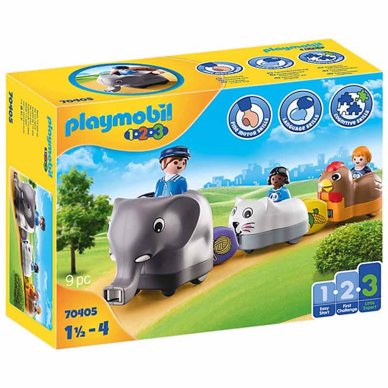 Playmobil 1.2.3 O meu Comboio de Animais