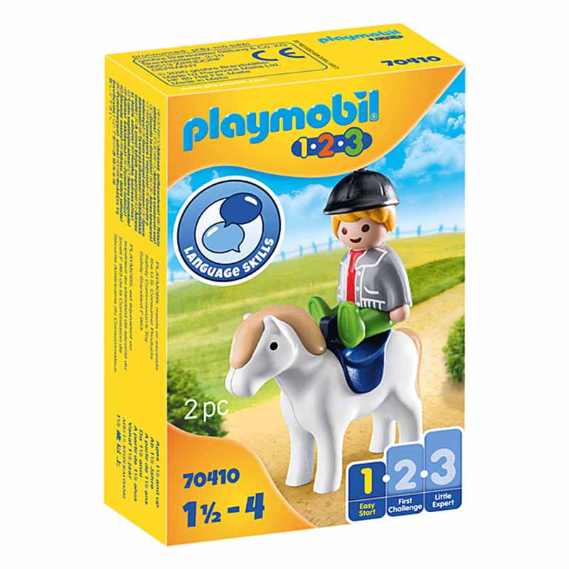 Playmobil 1.2.3 Criança com Pónei
