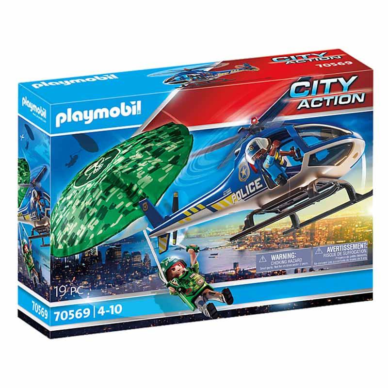 Playmobil City Action Perseguição em paraquedas