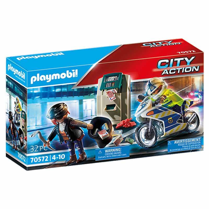 Playmobil City Action Moto Perseguição do ladrão