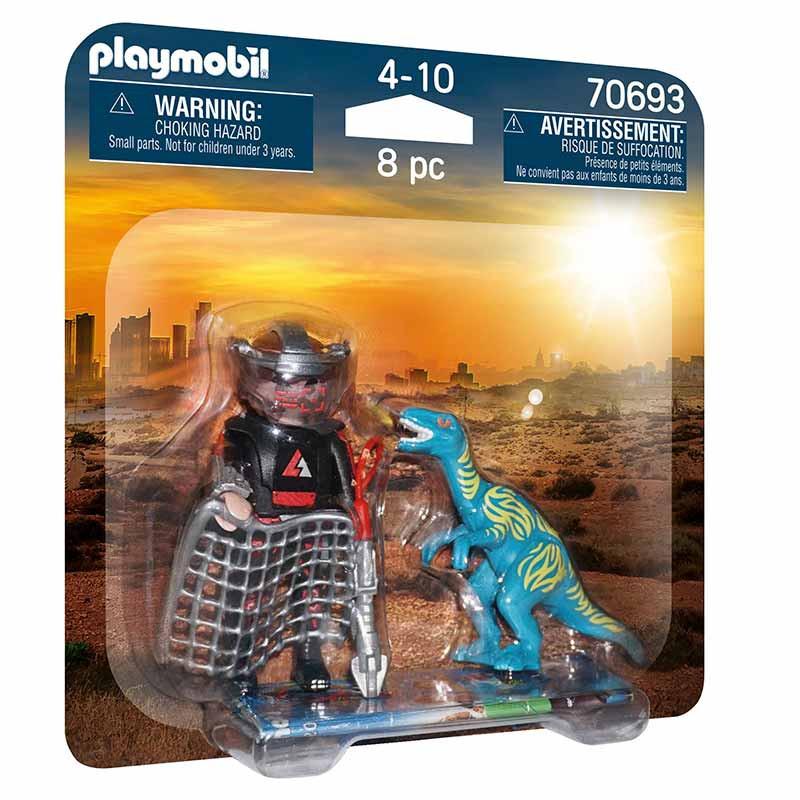 Playmobil Duopack Velociraptor e Caçador