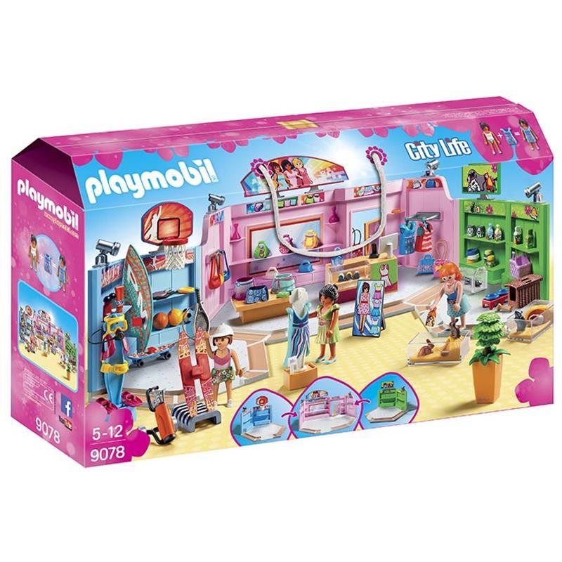 Playmobil Galeria Comercial com 3 lojas