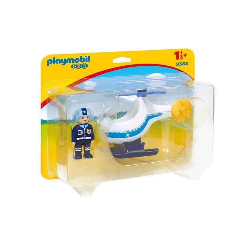 Playmobil 1.2.3 Helicóptero da Polícia