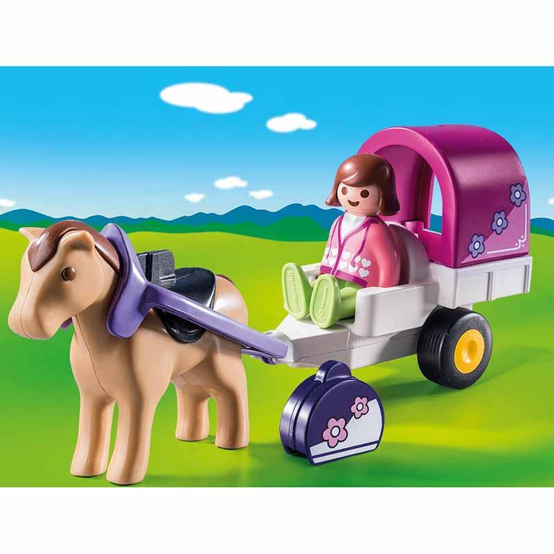 Playmobil 1.2.3  1.2.3 Carruagem com Cavalo