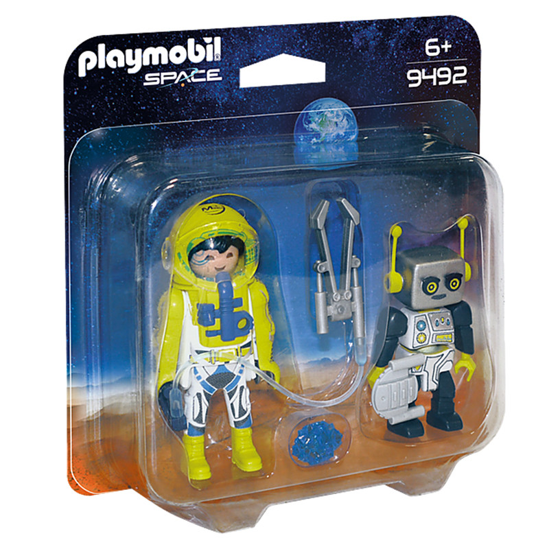 Playmobil pack  com astronauta e robot