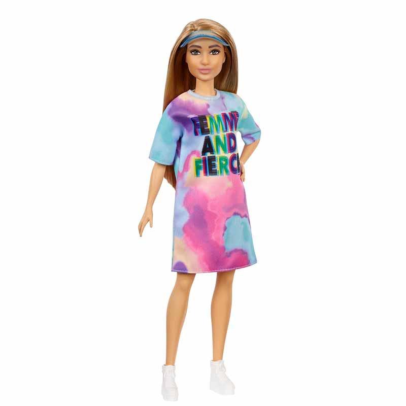 Barbie Fashionista morena vestido tie dye