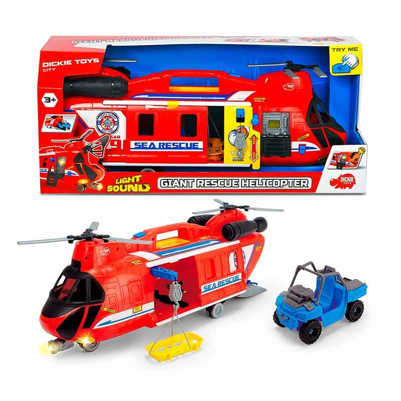 Giant Rescue Helicopter 60 cm Som e luz