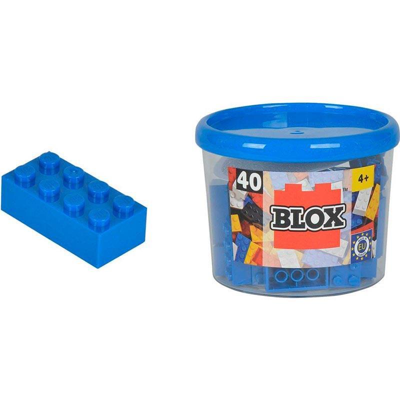 Bote Blox com 40 bloques azuis