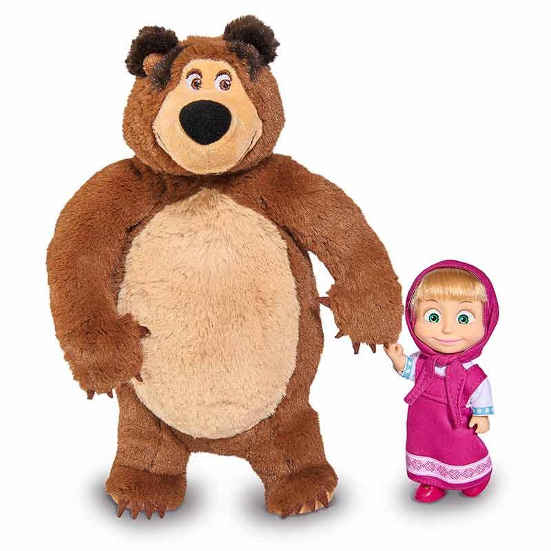 Boneca Masha 12 cm com Peluche Urso